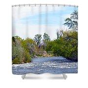 Truckee River  Shower Curtain