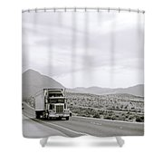 Trucking Across America Shower Curtain