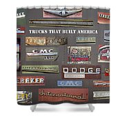 Trucks That Built America Shower Curtain