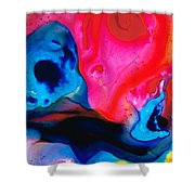 True Colors - Vibrant Pink And Blue Painting Art Shower Curtain
