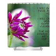 True Face - Poem - Flower Shower Curtain