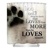 True Love - By Sharon Cummings Words By Billings Shower Curtain