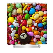 Truffle And Candy Shower Curtain