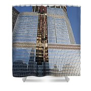 Trump International Hotel Under Construction Chicago Shower Curtain