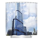 Trump Tower 3 Letter Signage Shower Curtain