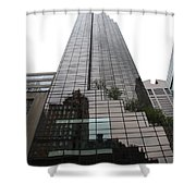 Trump Tower Reflection New York Shower Curtain