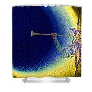 Trumpet Moon Shower Curtain