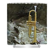 Trumpet N Canvas Shower Curtain