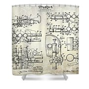 Trumpet Patent Drawing Shower Curtain