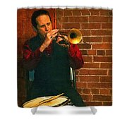 Trumpet Solo Shower Curtain