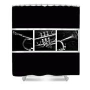 Trumpet Triptych Shower Curtain