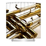 Trumpet Valves Shower Curtain