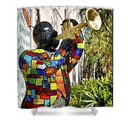 Trumpeter Shower Curtain