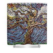 Trunk Of A Tree Shower Curtain
