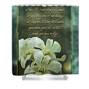 Trusting God Shower Curtain