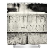 Truth For Authority Lucretia Mott  Shower Curtain