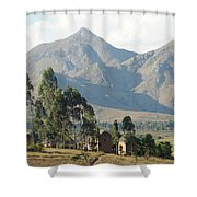Tsaranoro Mountains Madagascar 1 Shower Curtain
