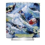 Tsunami 3 Shower Curtain