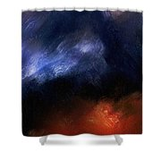 Tsunami Abstract Shower Curtain