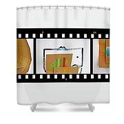Tsunami Strip Shower Curtain