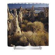 Ttufa Formations Mono Lake California Shower Curtain