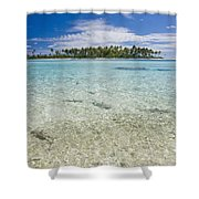 Tuamatu Islands Shower Curtain
