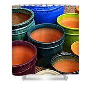 Tubac Pottery 2 Shower Curtain