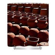 Tubac Pottery Factory Shower Curtain