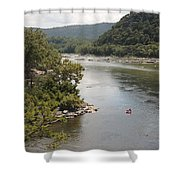 Tubing On The Potomac River At Harpers Ferry Shower Curtain