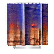 Tubular Sunset Shower Curtain