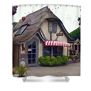 Tuck Box Tearoom - Carmel California Shower Curtain