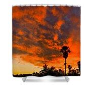 Tucson Arizona Sunrise Fire In The Sky Shower Curtain