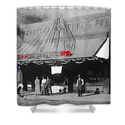 Tucson Gas And Electric Company In Tucson C. 1913 The Year Villa Visited Tucson -2010 Shower Curtain