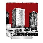 Tucson Skyline 1 - Dark Red Shower Curtain