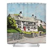 Tudor Cottage Cheshire England Shower Curtain