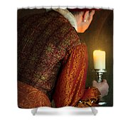 Tudor Man With Candle Shower Curtain