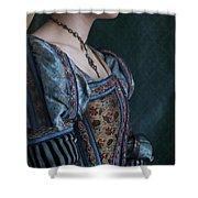Tudor Woman In Profile Shower Curtain