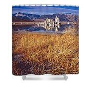 Tufa And Frozen Grass-h Shower Curtain