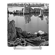 Tufa In Black And White Shower Curtain