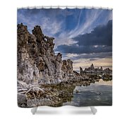 Tufas And Clouds Shower Curtain