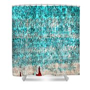 Tufas In The Mist Original Painting Shower Curtain