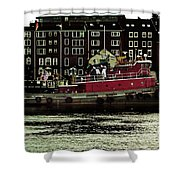 Tug At Dock Shower Curtain