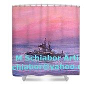 Tug At Sunrise Shower Curtain