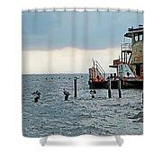 Tug Boat On Lake Pontchartrain Shower Curtain
