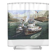 Gale Warning Safe Harbor Shower Curtain