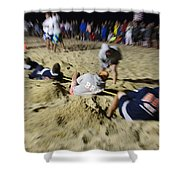 Mid-atlantic Lifeguard Competition - Tug Of War  Shower Curtain