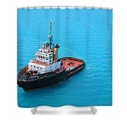 Tugboat At The Ready Shower Curtain