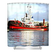 Tugboat Captain Shower Curtain