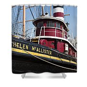Tugboat Helen Mcallister Shower Curtain