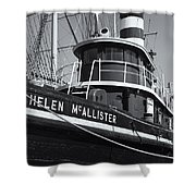 Tugboat Helen Mcallister II Shower Curtain by Clarence Holmes